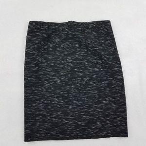 Ann Taylor Skirt 8P Petite Gray Heather Pencil New